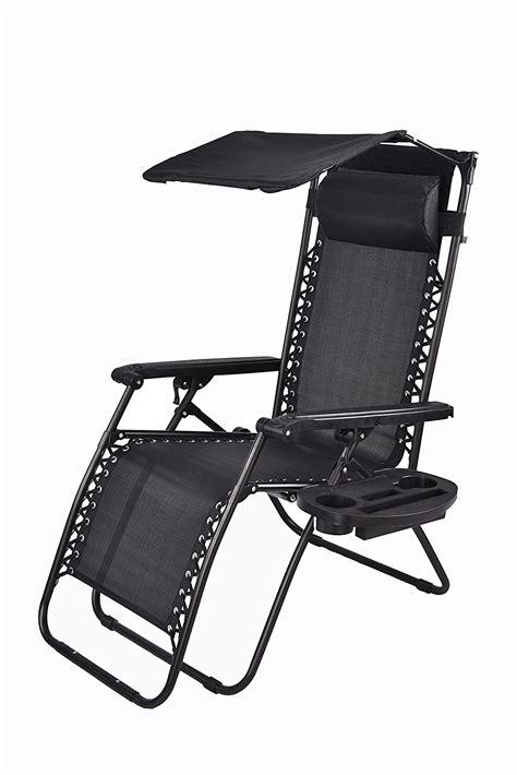 Zero Gravity Chair With Canopy by Zero Gravity Chair With Canopy Sunshade Utility Tray Cup Holder Black