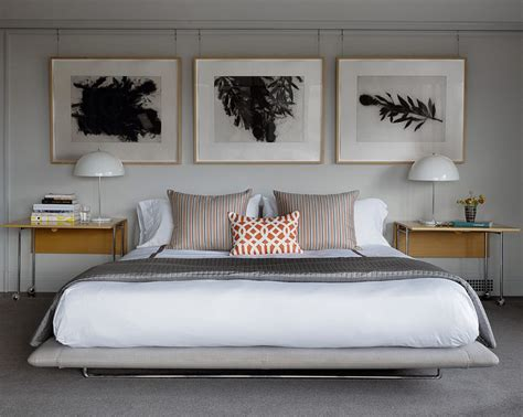 Pretty Metal Bed Frames Pretty Metal Bed Frame Bedroom Midcentury With Beige Headboard Open Shelving Traditional