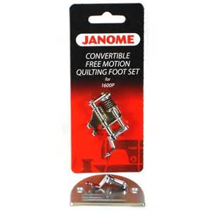 janome 1600 series convertible free motion quilting foot