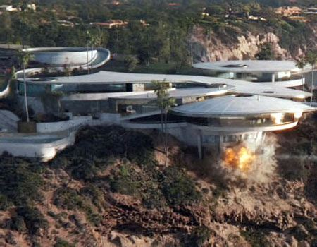 tony stark s home destroyed in super bowl spot represents iron man house house plan 2017