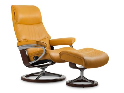 stressless view leather recliner ottoman best price