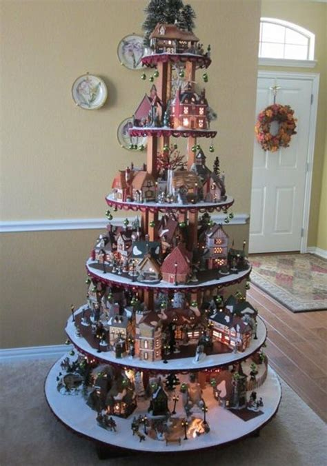 measurements christmas tree village display pattern for house display dept 56 lemax easter ebay