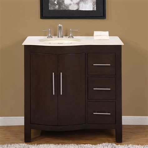 bathroom single sink vanity cabinet silkroad exclusive natural stone countertop bathroom