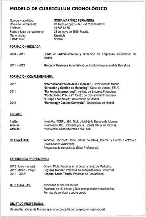 Modelo Curriculum De Trabajo Formato De Curr 237 Culum V 237 Tae Curr 237 Culum V 237 Tae Formatos Word Y Para Llenar