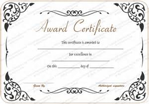 award of excellence certificate template award of excellence template