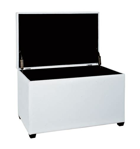 white ottoman storage bench ottoman white storage bench 30386