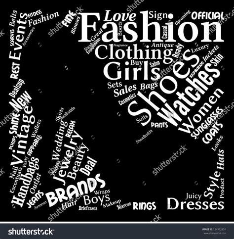 fashion cloud fashion word cloud fashion words shape stock vector