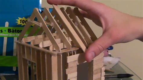 how do you make a house 4 6 how to build a popsicle stick house roofing part 1 2 youtube