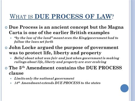 Due Process Of Beyond The State unit three lesson 18 how has the due process clause of the 14th amendment changed the