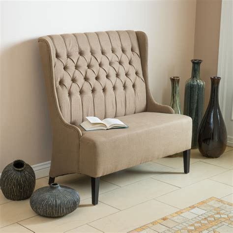 wingback loveseat sofa contemporary living room w light brown wingback loveseat