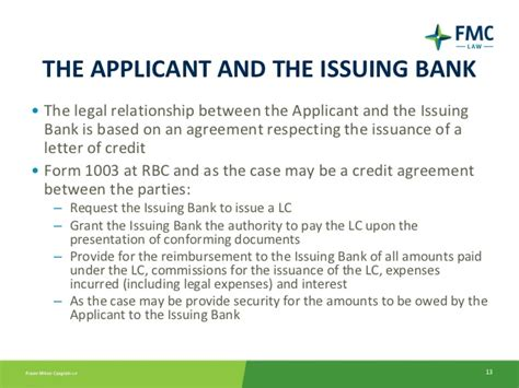 Rbc Letter Of Credit an introduction to letters of credit for banking lawyers