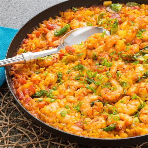 recipe paella style rice with shrimp blue apron
