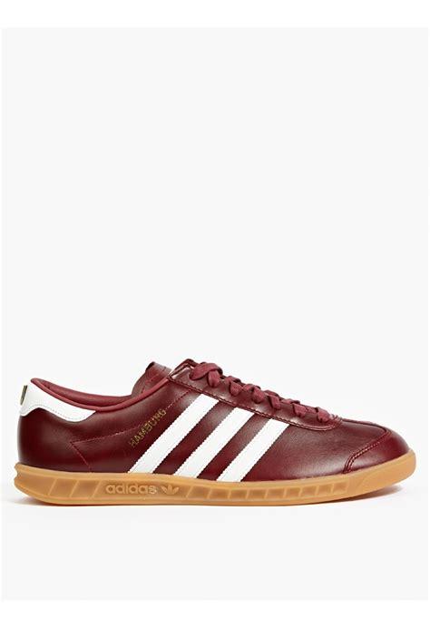 burgundy sneakers adidas originals burgundy hamburg made in germany