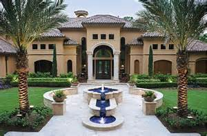 Spanish Villa Style Homes 5 Dramatic Outdoor Fountains Luxury Pools