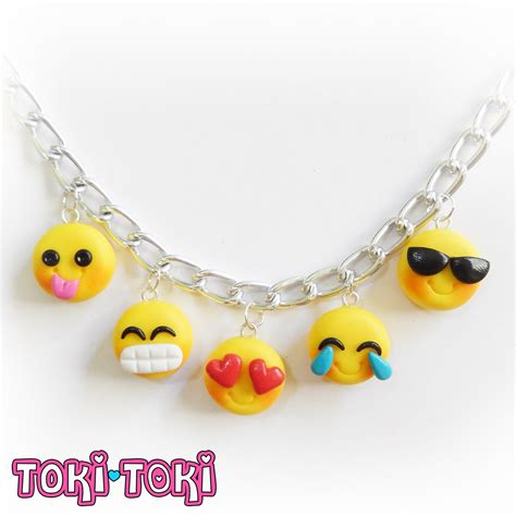 Say It With A Smiley With Emoticon Jewellery by Emoji Bracelet Emoticon Charm Smiley Emoticon Polymer Clay
