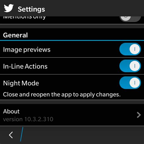themes line for blackberry twitter for blackberry 10 updated adds a beautiful quot night