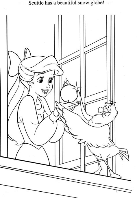 the little mermaid coloring pages scuttle 142 best images about little mermaid colouring page on