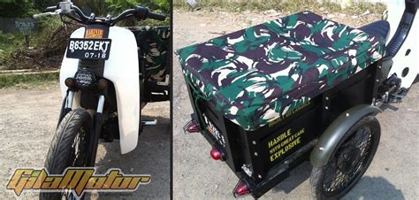 pembuatan cakram warna modifikasi honda legenda 2001 trike cub ala militer