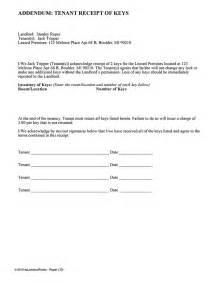 tenant receipt of key s ez landlord forms