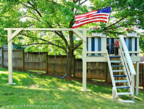 playhouse swing sets our fifth house diy swing set playhouse