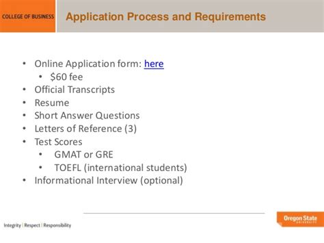 State Executive Mba Gmat Waiver by Oregon State Mba Portland Programs Overview