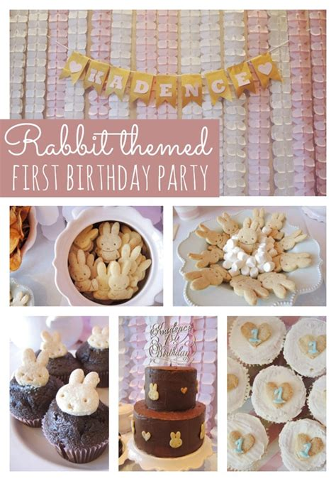 Rabbit Themed First  Ee  Birthday Ee   Party Pretty Party