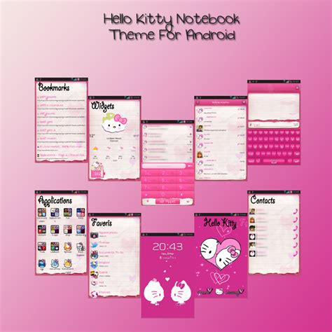 kitty themes for android hello kitty theme for android by ladypinkilicious on