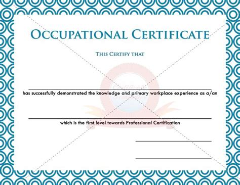 15 best images about occupational certificate templates on