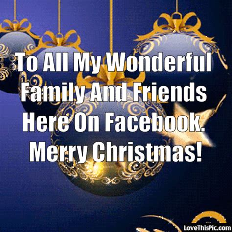 wonderful family  friends  facebook merry christmas pictures   images