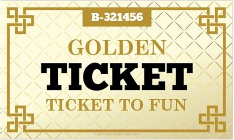Golden Ticket Templates For Ms Word Formal Word Templates Golden Ticket Template Word