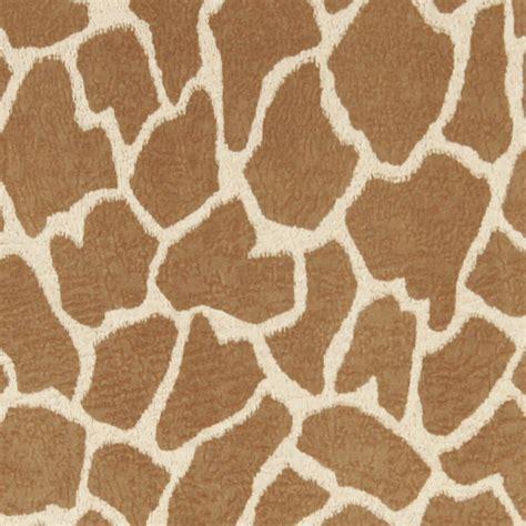 Beige Giraffe Print Microfiber Stain Resistant Upholstery