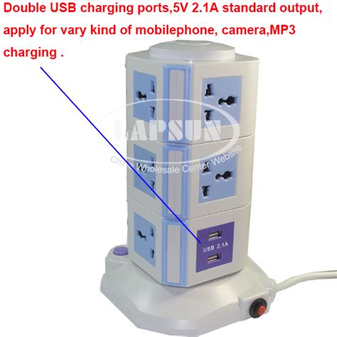 ls with usb ports and outlets 11 ways power multi switched vertical socket outlet