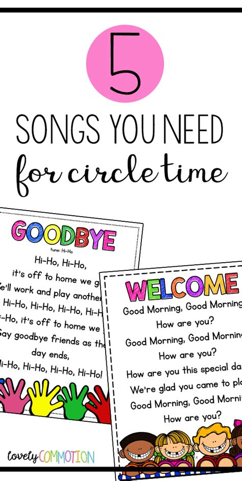 song pre k 5 songs you need for preschool circle time free