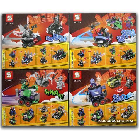 Lego Sy 732 Abcd Mighty Micros Superheroes 4 Pcs gambar mainan lego ninjago mainan toys