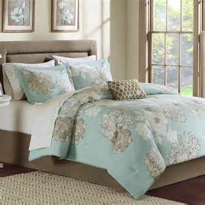 Bag 7 9pc comforter set sheets cal king queen full twin bedding ebay