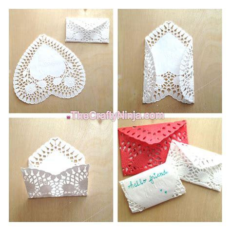 How To Make Paper Doily Envelopes - doily envelopes the crafty