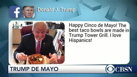 trump eats taco bowl declares  love hispanics youtube