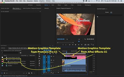 motion graphic templates after effects motion graphics template workflow in after effects and