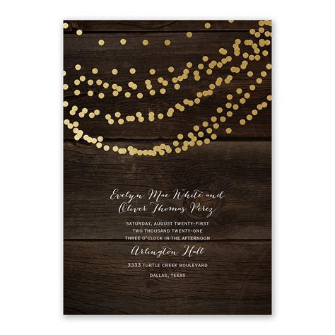 Wedding Invitation Card Style by Rustic Foil Invitation Invitations By
