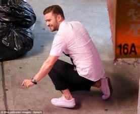 Bangs His On The Floor by Justin Timberlake Shows His Steps In Monochrome