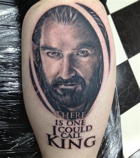foto thorin tattoo quot der hobbit quot auf dem bein von einem