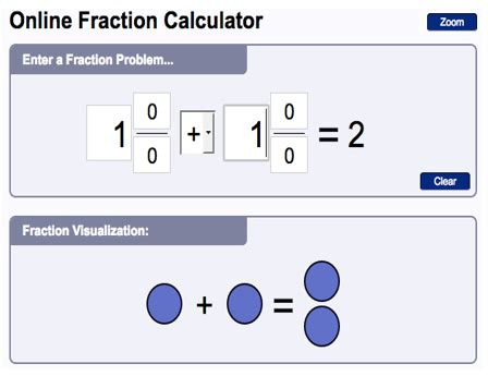 calculator of fractions calculator online free fractions and whole numbers
