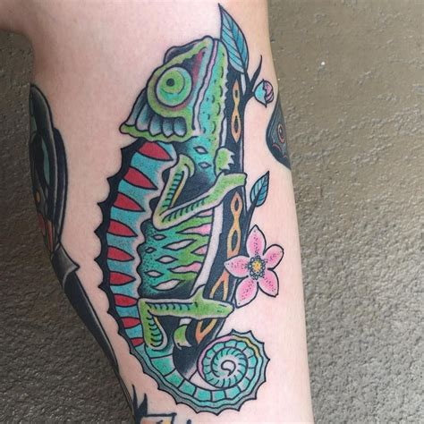 chameleon tattoo 35 colorful chameleon ideas cheerful designs that