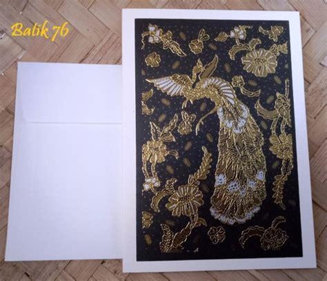 Kartu Ucapan Handmade Batik76 Motif 1 jual kartu ucapan premium batik motif merak gold size m kartu ucapan batik kartu ucapan ulang