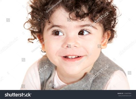 curly hairstyles for two year olds two year old girl curly hair stock photo 125907854