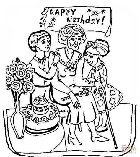grandmother birthday coloring pages grandma birthday coloring online super coloring