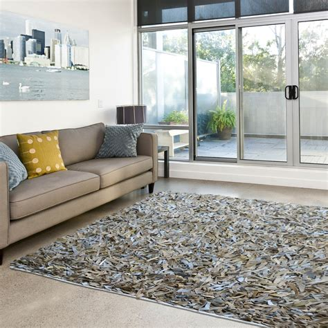 Calvin Klein Rug Leather Shaggy Rugs Buy Online At The Rug Seller