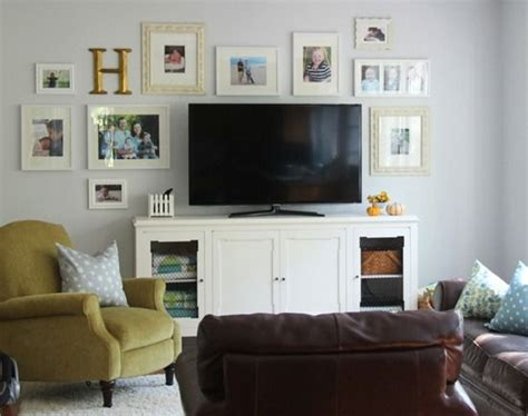 decorating around a flat screen tv living room ideas