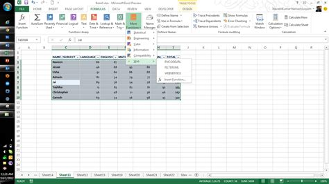 Spreadsheet Functions by Microsoft Excel 2013 Features Part Two Qainsights