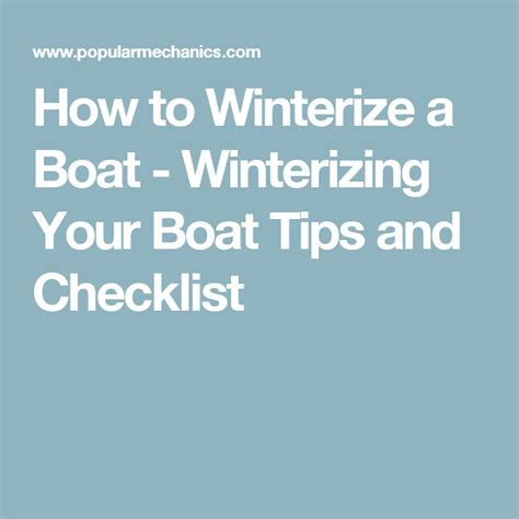 how to winterize a outboard boat how to winterize your boat projects to try pinterest